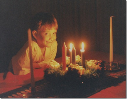 Boy with Advent wreath