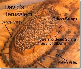 Jebusite Jerusalem Diagram