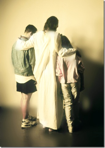 Jesus Comforting Kids