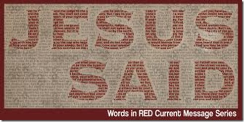 words in red