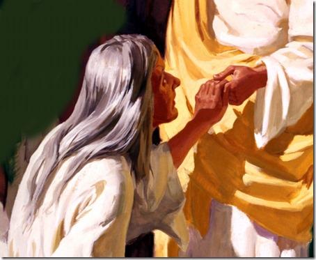 Jesus heals bleeding woman