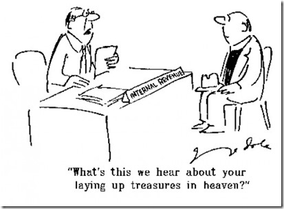 IRS Treasure in heaven