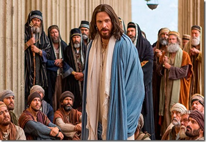 jesus teaching in temple
