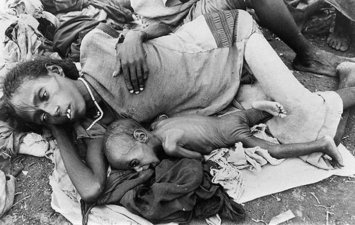 suffering - mother and baby